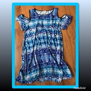 Like New ECI cold shoulder tunic knee length dress